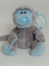 Adorable My 1st 'Giggles' Baby Monkey Blue Nose Friends Plush Toy